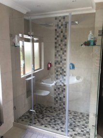 Anchor Property Group - Shower corner bath tub and toilet redesign