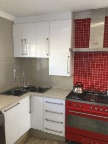 Anchor Property Group - kitchen renovation red tile wall basin corner