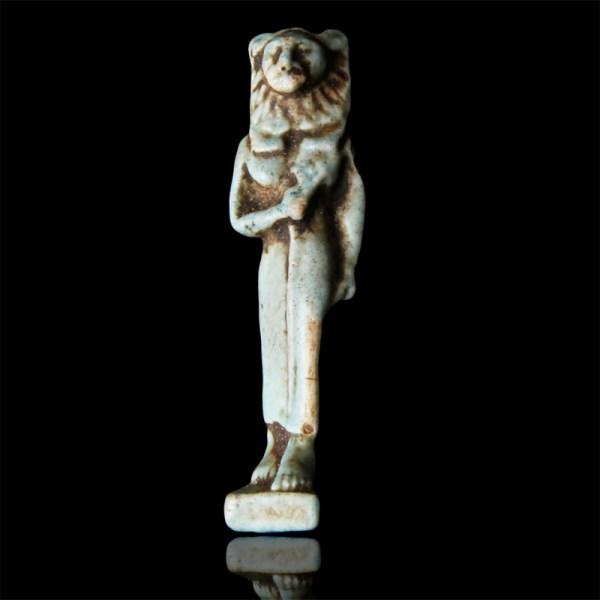 Egyptian Faience Amulet of Sekhmet