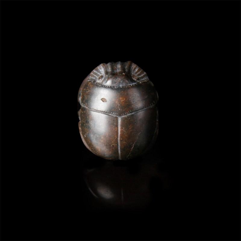 Rare Egyptian Jasper Scarab Amulet