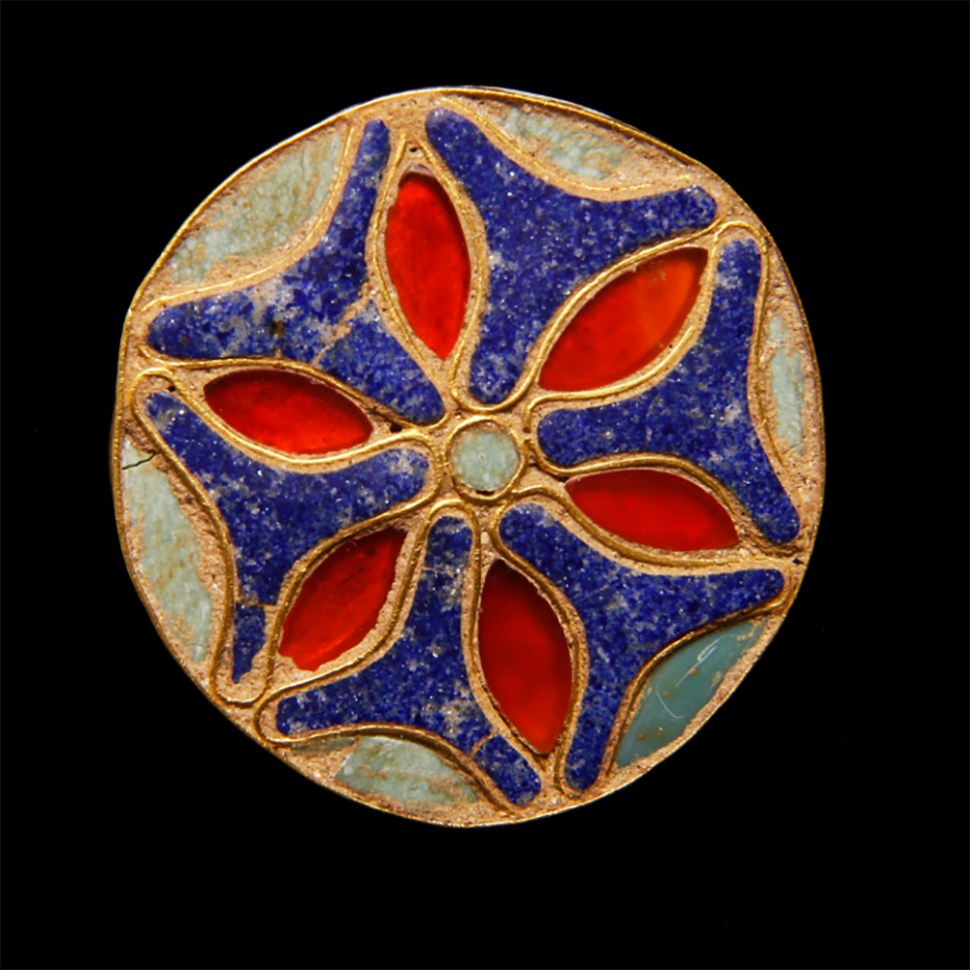 rare-phoenician-egyptian-inlay-floral-stud