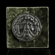 Ancient Roman Bronze Achelous Plaque