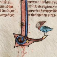 British Medieval Manuscript with Hybrid Creature