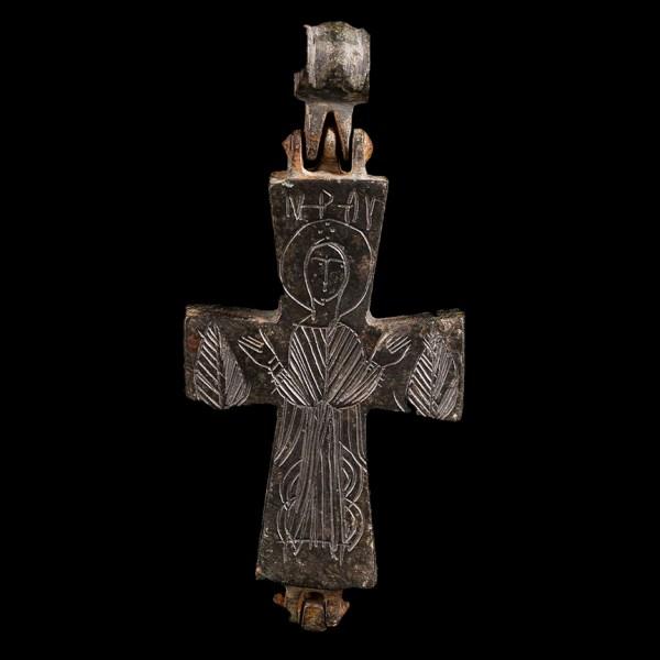 Byzantine Bronze Reliquary Cross