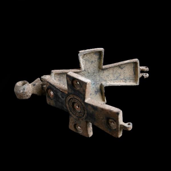 Byzantine Enkolpion Cross with St. John