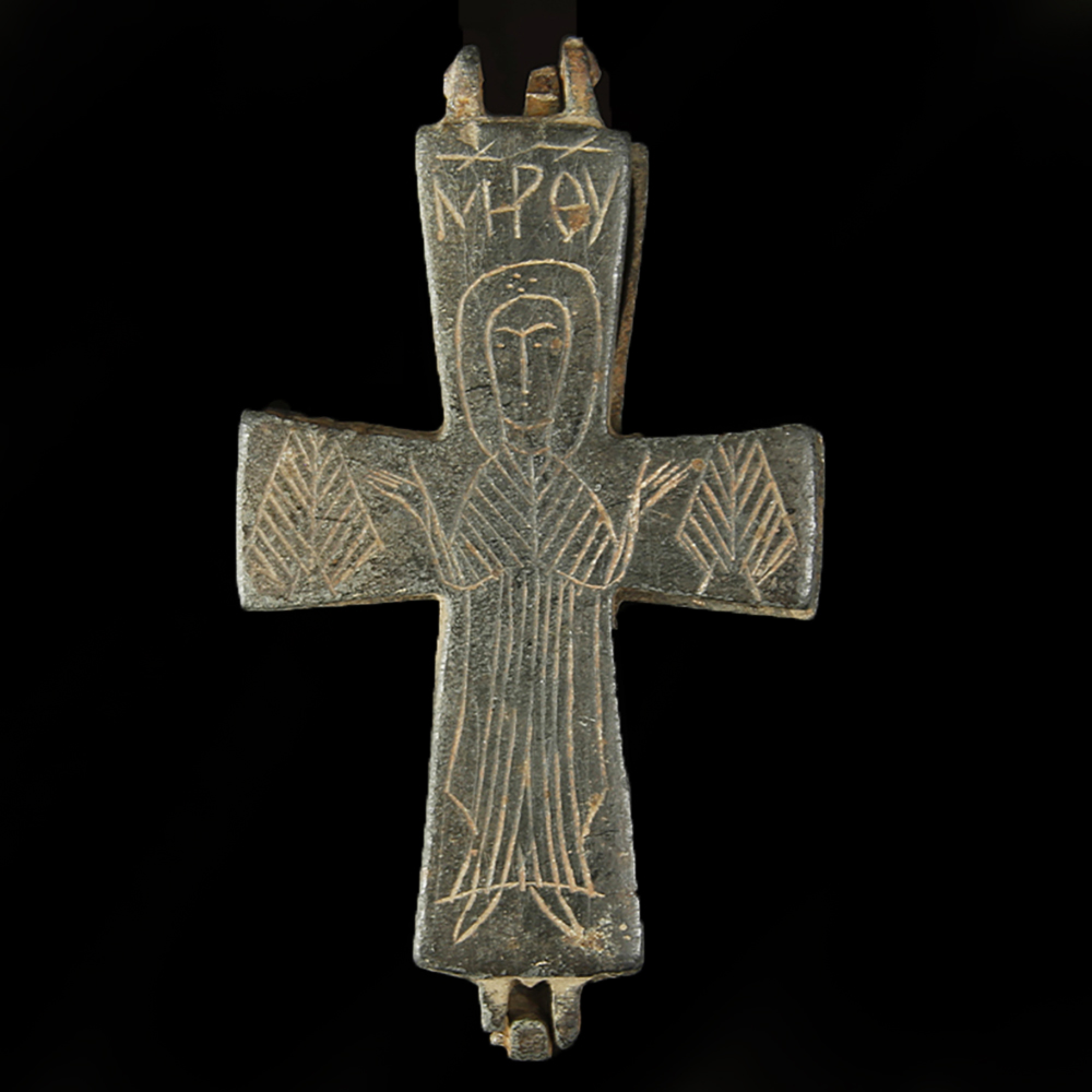 Byzantine Enkolpion Reliquary Cross - St James Ancient Art
