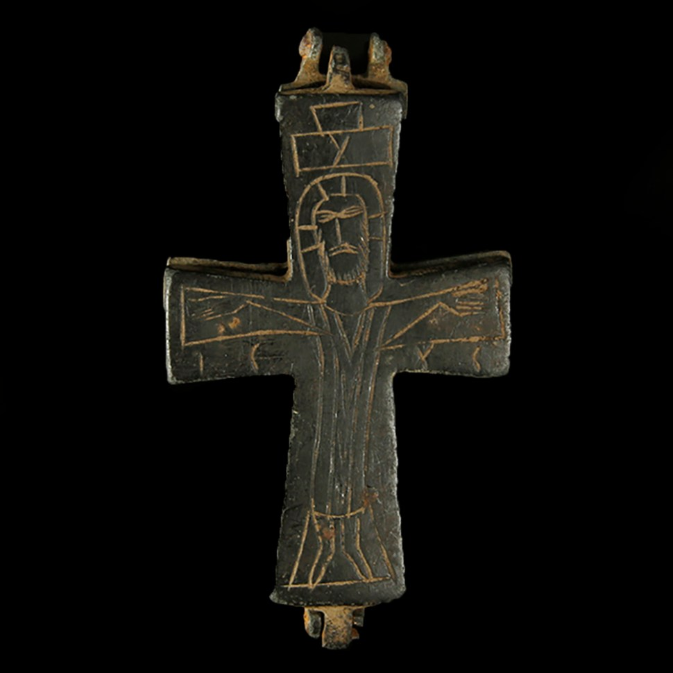 Byzantine Enkolpion Reliquary Cross