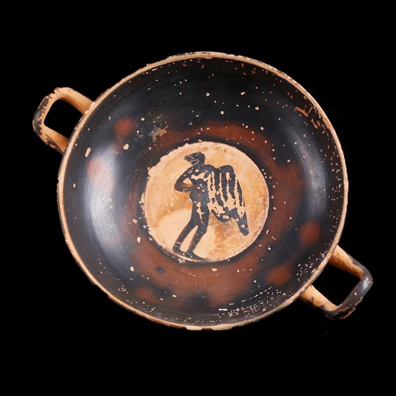 Finely Decorated Greek Attic Black-Figure Kylix
