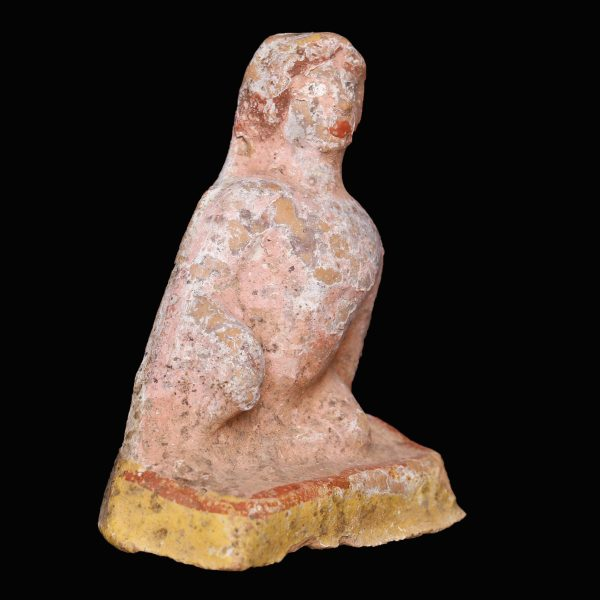 Greek Statuette of a Seated Man