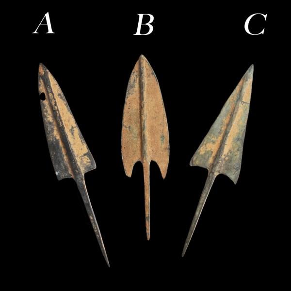 Luristan Bronze Arrowheads