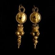 Matching Pair of Roman Gold Earrings