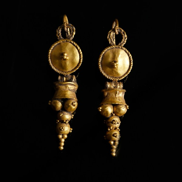 Matching Pair of Roman Gold Earrings