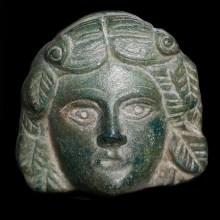 A Fine Bronze Applique of Bacchus