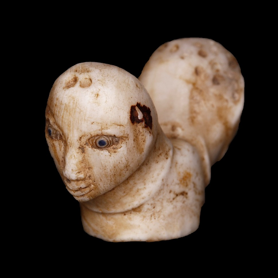 Sumerian Two-Headed Alabaster Pommel