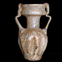 Ancient Roman Two-Handled Indented Jar