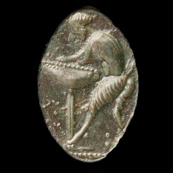 Greek Bronze Seal Ring