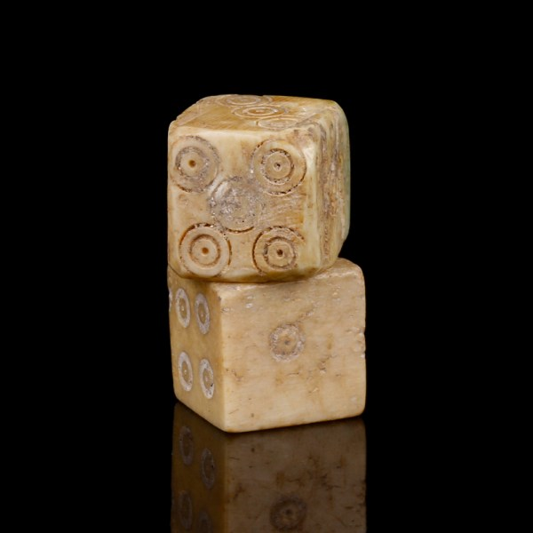 Roman Pair of Bone Dice