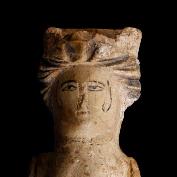 Roman Doll Carved in Bone with Pigment