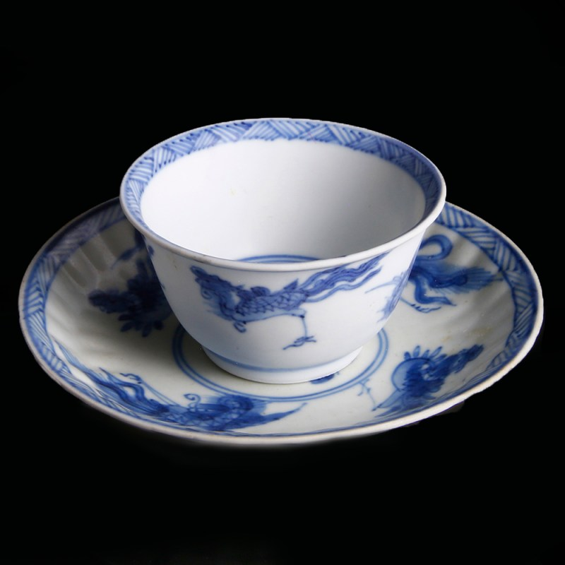 Cup and Saucer with Phoenixes