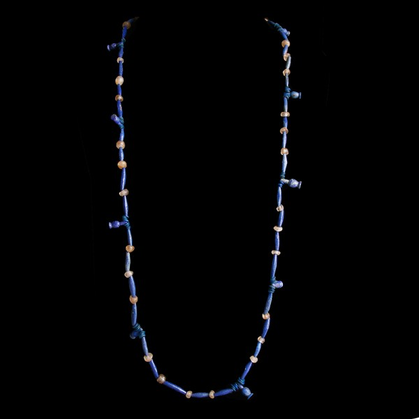 Egyptian Necklace with Poppy Amulets