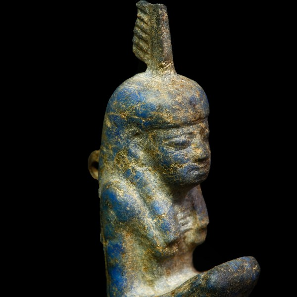 Exquisite Lapis Lazuli Ma'at Amulet