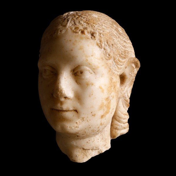Roman Marble Head of a Woman