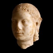 Roman Marble Head of a Woman