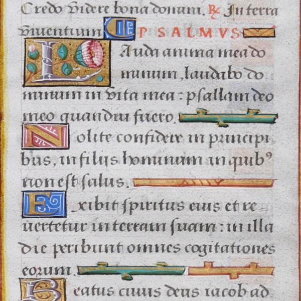 Medieval Manuscript in Custom Frame