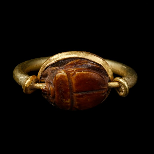 Greco-Phoenician Swivel Ring with Scarab