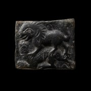 Roman Near Eastern Plaque with Lion and Prey Relief
