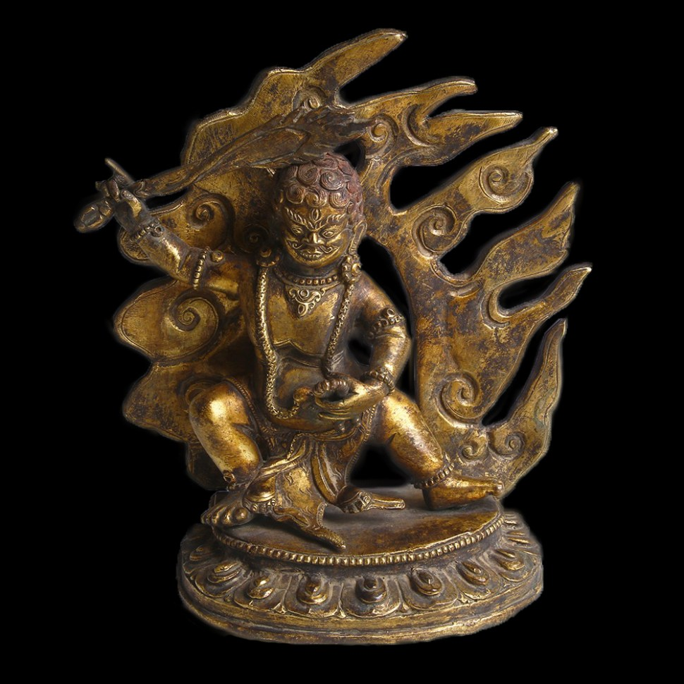 tibetan-gilt-bronze-figurine-of-agni-1