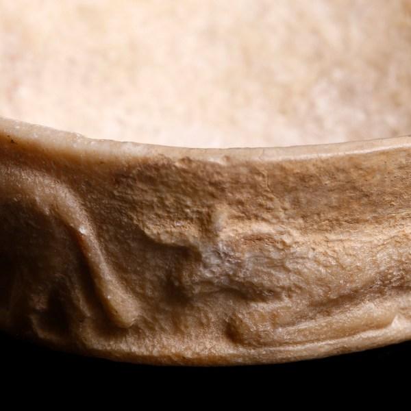 Extremely Fine Sumerian Alabaster Votive Vessel