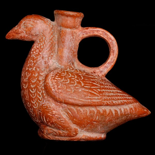 Ancient Roman Perfume Vessel in the Shape of a Dove