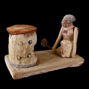Ancient Egyptian Wood Tomb Model with Baker
