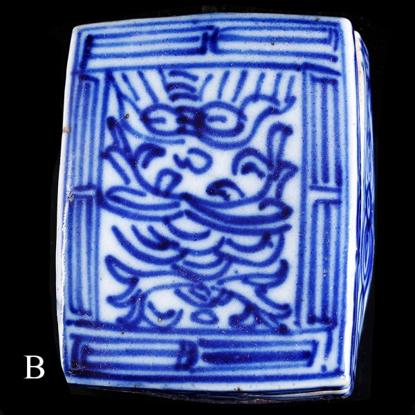 chinese bright blue and white trinkets box