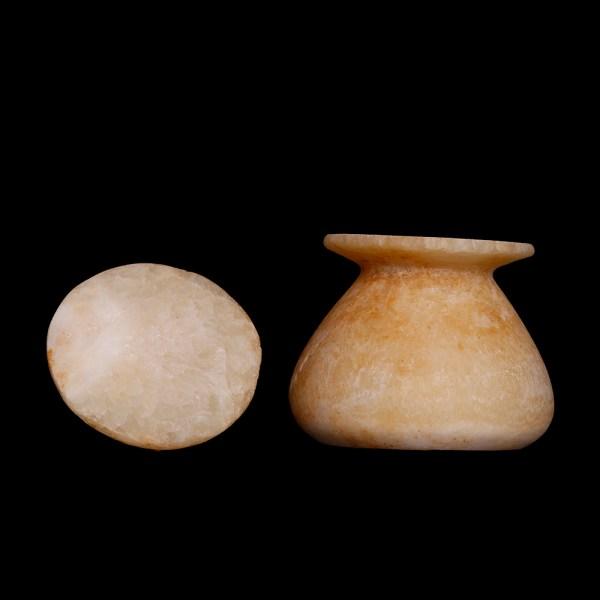 Egyptian New Kingdom Alabaster Vessel
