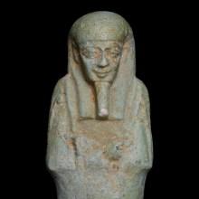 Egyptian Pale Blue Faience Shabti