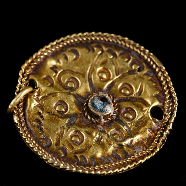 Byzantine Gold Pendant with Repoussé Rosette