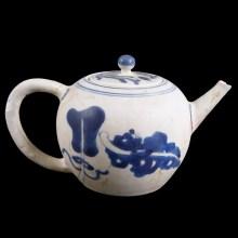 Blue and White Kangxi Shipwreck Teapot