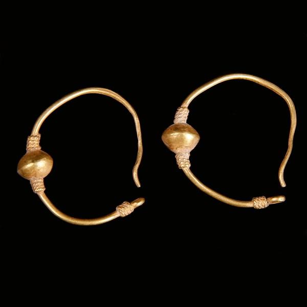 Golden Greek Hellenistic Earrings