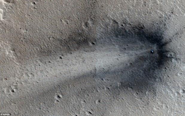 OVNI acidentado em Marte.