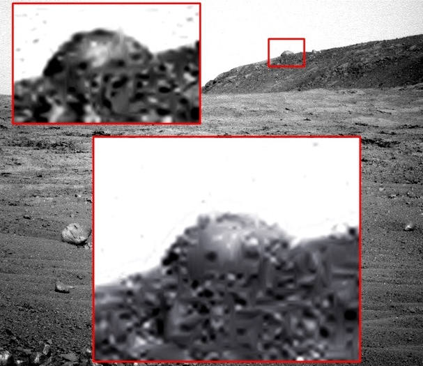 Mysterious dome on Mars Ancient Code