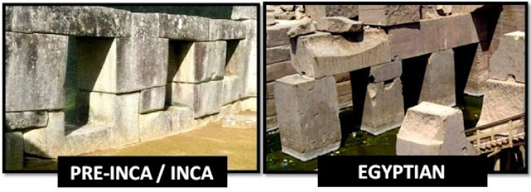Comparison of stones between Inca and Pre Inca Masonry and Egypt