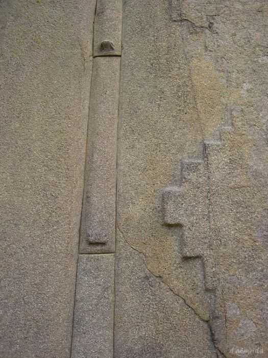 A closeup of the massive blocks of stone at Ollantaytambo. Image credit: Pinterest