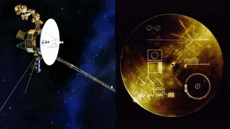 The Golden Disc aboard the Voyager Spacecraft.