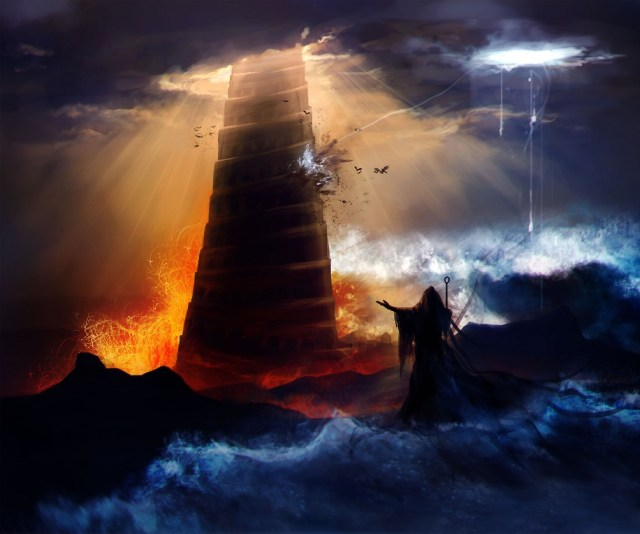 An artists rendering of a tower in Eridu