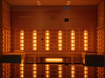 can you use ancient minerals while in an infrared sauna