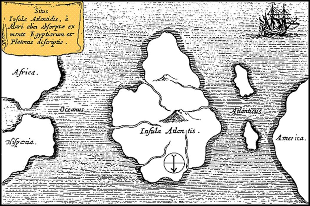 Mapa de la Atlántida según la descripción de Platón que aparece en los diálogos Timeo y Critias. (Public Domain)