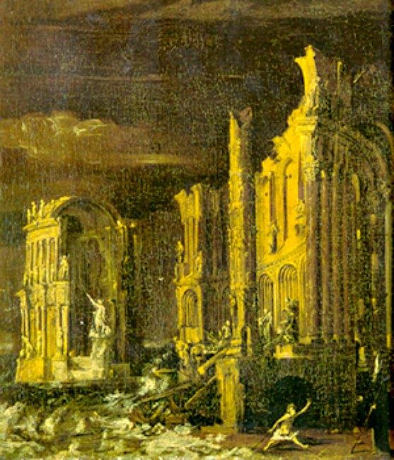 'La Caída de La Atlántida' (siglo XVII), óleo de Monsù Desiderio. (Public Domain)