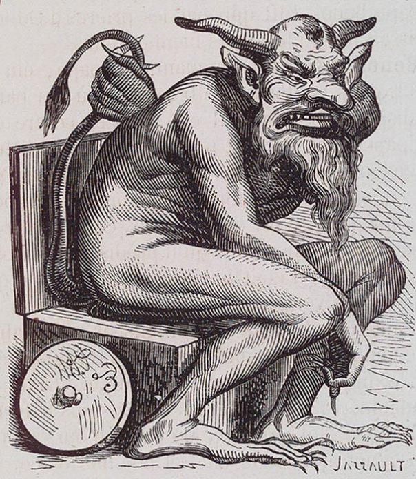 Ilustración de Belfegor en el Diccionario Infernal (Public Domain)